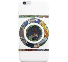 Square and Circle Mandala - COLOURED iPhone Case/Skin