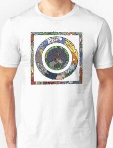 Square and Circle Mandala - COLOURED T-Shirt