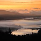 Glen Garry, Misty Winter Sunset, Highland Scotland. by photosecosse /barbara jones