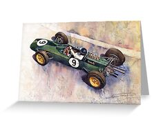 Lotus 25 F1 Jim Clark Monaco GP 1963 Greeting Card