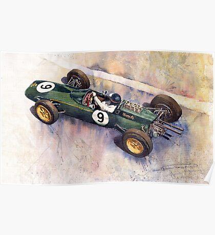 Lotus 25 F1 Jim Clark Monaco GP 1963 Poster