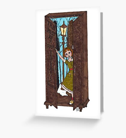 Lucy in the Wardrobe Greeting Card
