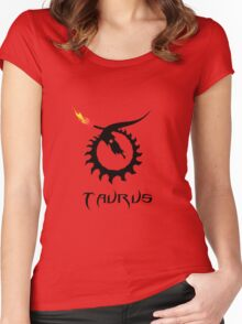 Skeleton Taurus Zodiac Women's Fitted Scoop T-Shirt