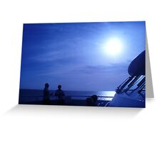 voyage Thru Blue Greeting Card