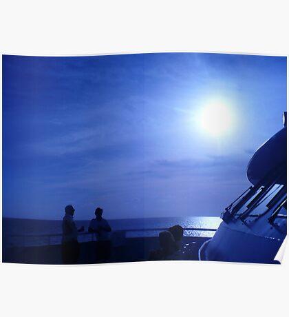 voyage Thru Blue Poster