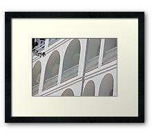 Whiteness of Capri Framed Print