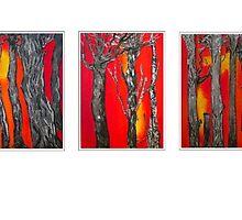 Trees (triptych) by Olga van Dijk