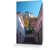 Castle-fortress Greeting Card