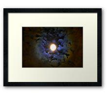 June Moon Framed Print