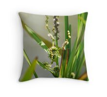 Flowering reeds Throw Pillow