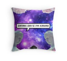 SATAN SAYZ Throw Pillow