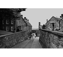Inside the grounds of Edinburgh Castle. Photographic Print