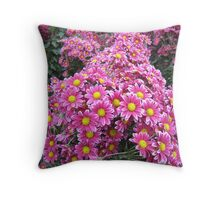 In the sea of chrysanthemums Throw Pillow