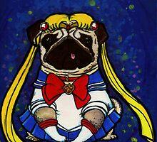 Sailor Pug by Leah  Garza