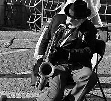 Saxophonist - Prague, Czech Republic by LisaRoberts