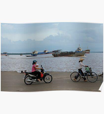 Riding, Vietnam Poster