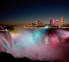 Winter Night at Niagara Falls by Misti Love