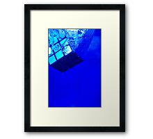 Rubik's Blues Framed Print
