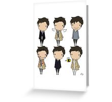 The Many Faces of Castiel Greeting Card