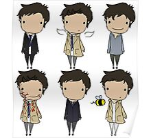 The Many Faces of Castiel Poster