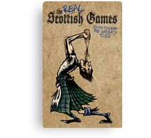 Some Real Scot Games Canvas Print