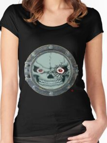 PORT HOLE / SKULL Women's Fitted Scoop T-Shirt