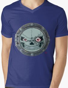 PORT HOLE / SKULL Mens V-Neck T-Shirt