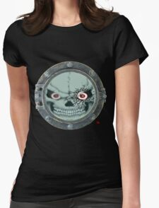 PORT HOLE / SKULL Womens Fitted T-Shirt