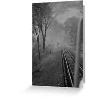 Mist and rail track Greeting Card