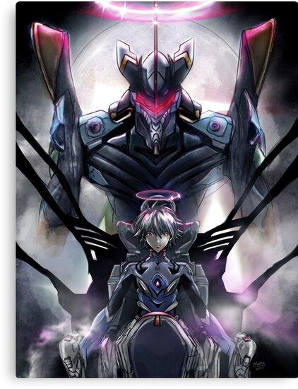 Kawrou Evangelion Anime Tra Digital Painting  by barrettbiggers