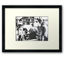 Visiting David Hockney ( Time Travel ) Framed Print