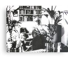 Visiting David Hockney ( Time Travel ) Canvas Print