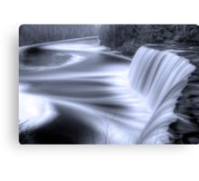Tahquamenon falls Black and Blue Canvas Print