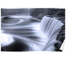 Tahquamenon falls Black and Blue Poster