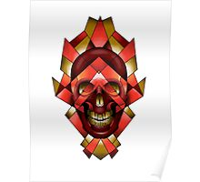 Geo Skull Poster