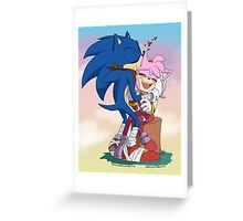 Sonic&Amy: Kisses Greeting Card