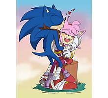 Sonic&Amy: Kisses Photographic Print