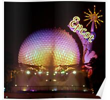 """Epcot at Night"" Poster"