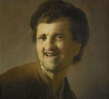 Painting - Bust of a laughing young man, circle of Rembrandt Harmensz. van Rijn, c. 1629 - c. 1630  by wetdryvac