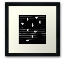 Sloth Stripe Framed Print