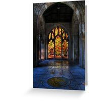 Autumn Colors From The Washington Memorial Chapel Greeting Card