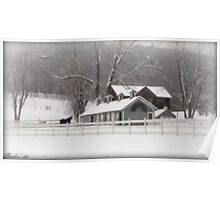 Lone Horse Ranch in Winter Poster