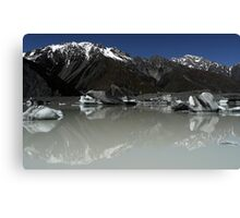 In the Hall of the Mountain King- Tasman Glacier Lake Canvas Print