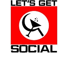 Let's Get Social Photographic Print