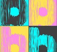 Multicolored Letter B by Tiltedgiraffes