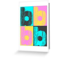 Multicolored Letter B Greeting Card