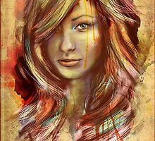 Olivia Wilde Portrait Tra Digital Painting by barrettbiggers