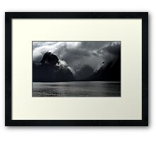 In the Hall of the Mountain King- Storm Clouds. Framed Print