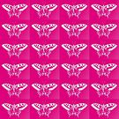 Stunning Hot Pink Butterflies  by cathyjacobs