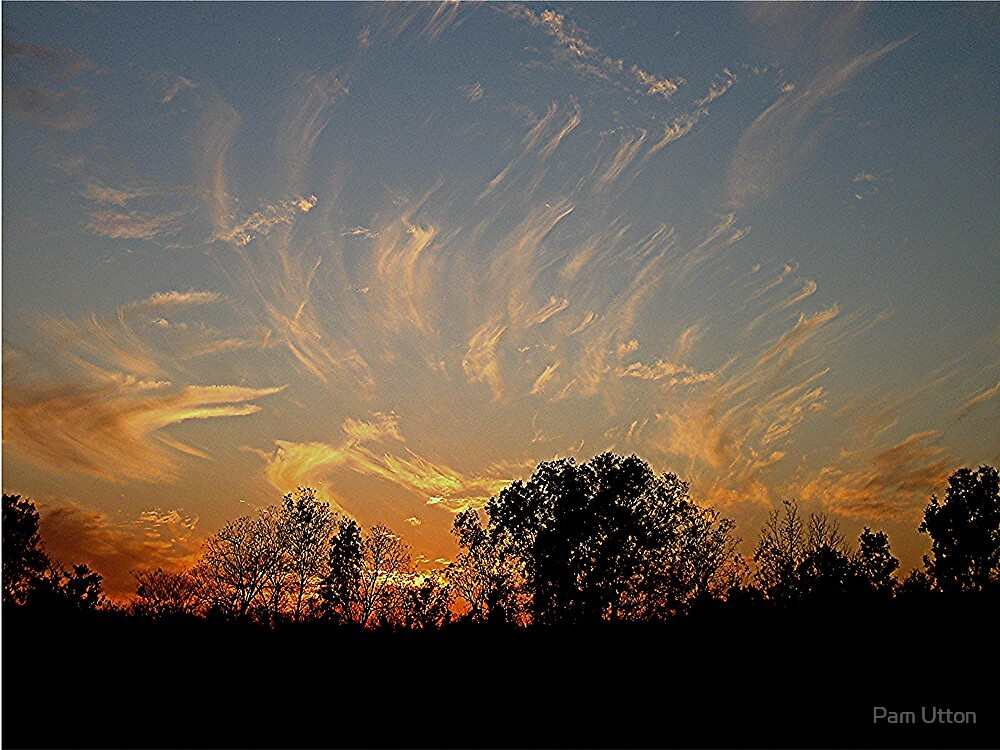 God paints the sky by Pam Utton